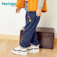 【2件4折】巴拉巴拉旗下马卡乐男童冬火箭刺绣裤子全棉针织长裤
