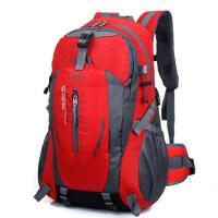 新款双肩包防泼水书包男女款户外运动旅行背包登山包骑行水壶挂包