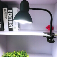 【限时7折】插电式阅读夹式台灯学生宿舍卧室床头灯护眼灯可换灯泡夹子金属灯