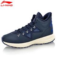 李宁耐磨保暖运动鞋子运动时尚系列中帮中底休闲鞋AGCM199