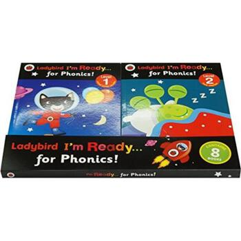 Ladybird I'm Ready…for Phonics Level 1-4,Workbook1-4小瓢虫自然拼读法及练习册(共8册)ISBN9780241251898