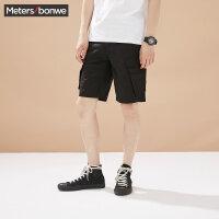 美特斯邦威短裤男士2017夏装新款休闲舒适五分裤252388商场同款