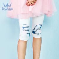 【3件3折:35元】水孩儿souhait女童短裤夏外穿新款儿童七分打底裤女中小童AKSXM454