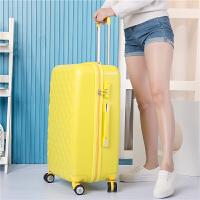 拉杆箱万向轮旅行箱子母女行李箱22寸登机20寸24寸26寸学生密码箱 黄色 黄色/单箱