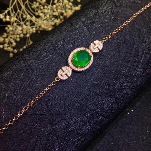 天然祖母绿手链,精工镶嵌!祖母绿被称为绿宝石之王