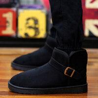 冬季男靴英伦情侣雪地靴男冬鞋面包鞋保暖男棉鞋潮流短靴男马丁靴srr