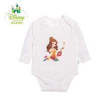 迪士尼Disney 新生儿衣服婴儿秋冬包屁衣宝宝长袖纯棉153B616