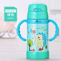 宝宝带手柄保温水杯 婴儿保温杯吸管杯防漏学饮杯喝水杯幼儿童水壶