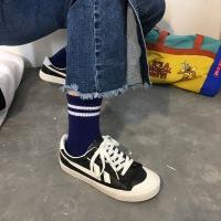 帆布鞋女加绒2018新款冬棉鞋女鞋学生韩版港风板鞋百搭基础小白鞋