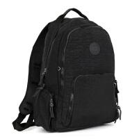 防水尼龙双肩包大容量行李背包学生书包大号旅游旅行包休闲 黑色 见图