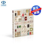 英文原版 Great Diaries DK伟大的日记 世界上著名的日记,记录,笔记本和信件 文学百科读物 自传 Kate