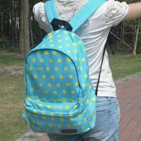 双肩包帆布男女孩初中学生小学生书包儿童旅行背包
