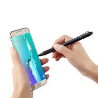 触控笔手写笔三星Galaxy S9+/S9/S8+/S8/S7 Edge/S10/S6/S4手机S 爵士黑【粗细两用多