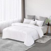 水星出品 简色生活 全棉澳洲羊毛春秋被100%羊毛保暖被芯四季被单双人被芯床上用品
