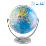 地球仪(20cm政区地球仪-倾角万向旋转银色支架 新课标学生专用)