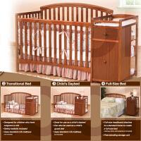 婴儿床实木出口尿布台欧式多功能环保童床双胞胎床13省ys-992 床+尿布台+送2个小护栏
