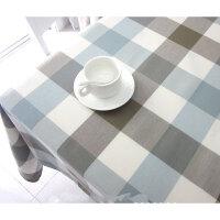 北欧茶几防水桌布格子餐桌布棉麻布艺书桌台布长方形现代简约文艺