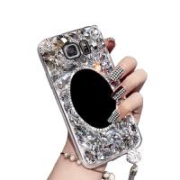 三星s6e手机壳SM-G9250钻曲屏女款SMG925F硬壳SM-G9250外壳5.1寸硬壳g952 s6edge镜子