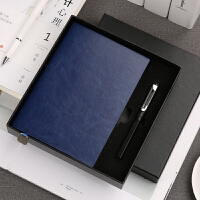 笔记本文具套装礼盒礼品定做学生学习日记本线装本软皮面A5商务记事本手账本