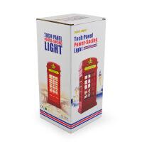 复古电话亭LED触控触摸调节亮度LED小夜灯卧室床头台灯节能可充电