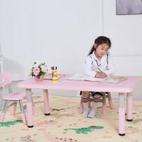幼儿园桌子椅子套装儿童升降桌椅戏吃饭画画宝宝学习桌塑料小桌子