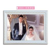 欧式实木相框16/20/24/30/36寸婚纱照相框床头挂墙加冲印照片定做