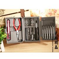 24PC家用多功能工具箱 五金组合工具 工具套装 盒装方形工具盒.