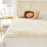 羊毛床垫冬季垫被垫背1.5床褥1.8m加厚保暖垫子冬天褥子双人1.2米 双人床:180x200cm 柔软舒适 不掉毛