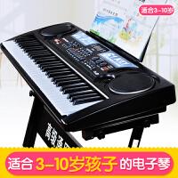 电子琴儿童初学1-3-6-12岁61键带麦克风宝宝早教音乐钢琴玩具a306 +琴