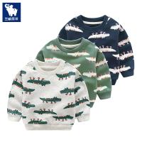 儿童套头长袖卫衣春季新款鳄鱼卡通男童上衣春秋装宝宝外套潮