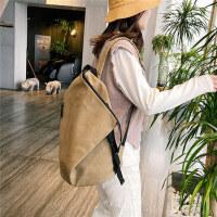 日系双肩背包男女学生包帆布包韩版ins潮流纯白色包大容量 双肩包