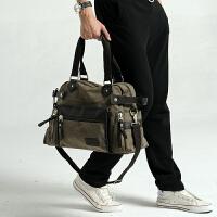 帆布包斜挎包潮包手提包男包包单肩包斜跨包旅行包时尚大休闲包
