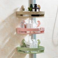 吸壁式三角置物架厨房免打孔收纳架卫生间壁挂架子浴室转角洗漱架