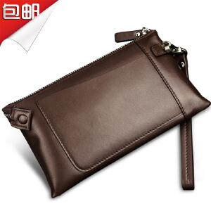 SOUF【支持礼品卡】男士手抓包 软皮手包 手拿包头层牛皮 真皮休闲 手腕包大容量