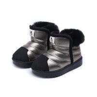 儿童雪地靴2018冬季男女宝宝棉鞋中小童加绒保暖短靴防水滑学步鞋