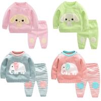 开衫毛衣套装秋冬男宝宝毛线衣卡通婴幼儿针织婴儿女童棉线衣服