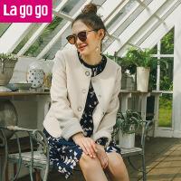 【秒杀价239】Lagogo/拉谷谷2019年冬季新款时尚大衣
