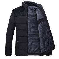 爸爸冬装外套加绒加厚中年男士棉衣40中老年冬季50岁保暖棉袄