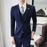 男士西装套装三件套韩版修身西服男春秋季商务休闲新郎伴郎结婚礼服