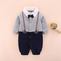 婴儿秋装男三个月满月宝宝衣服男孩百天百岁周岁礼服男婴1-2岁冬6