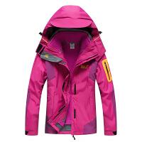 户外冲锋衣男女三合一两件套秋冬加绒加厚防水透气西藏旅游登山服