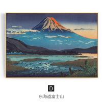 远眺富士 日式浮世绘客厅装饰画沙发背景墙墙画富士山挂画壁画