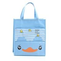 小学生手提包 帆布手提袋 美术袋 儿童手提书包 补习袋 天蓝三只鸭