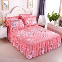 ???席梦思床罩秋冬保暖加厚磨毛夹棉单双边床裙床盖