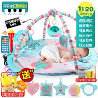 婴儿健身架器脚踏钢琴婴儿玩具0-3-6-12个月女孩带音乐男孩