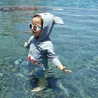 儿童泳衣连体鲨鱼男女童小中童宝宝防晒游泳衣泳裤套装