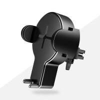 苹果8车载无线充电器iphone8plus三星s6s7s8通用汽车手机支架 汽车用品 【黑色】-兼容苹果安卓-【放下就充