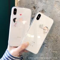 情侣秀恩爱iPhone6s透明手机壳Xsmax卡通小新丸子苹果X/7/8plus套