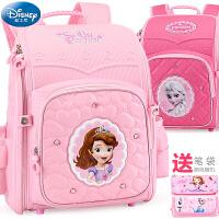 迪士尼书包小学生女童双肩背包61-3-4年级冰雪奇缘苏菲亚女孩儿童