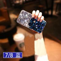 iphone6splus手机壳满钻6splus全包边防摔6s网红款ip6个性创意潮牌6p新 苹果7/8 蓝钻 4.7寸